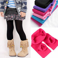 2-7Y Kids Girls Child Thick Fleece Leggings Lined Trousers Skinny Pants Bottoms
