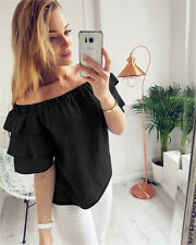 Casual Blouse T-Shirt Short Sleeve Shirt  Fashion Women Ladies Summer Loose Tops