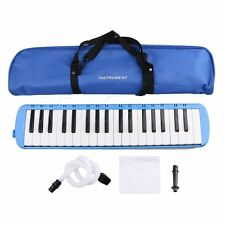 Mxfans 2 Colors Plastic 37 Keys Piano Melodica Musical Instrument with Carry Bag