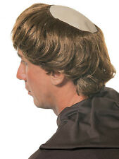Bald Circle Monk Wig Fancy Dress Holy Father Hair Stag Do Vicar Bald Patch