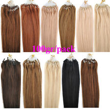 100g/pack 18/20/22'' Micro Ring Loop Tipped Women Remy Human Hair Extensions