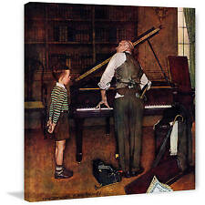 """Marmont Hill """"Piano Tuner"""" by Norman Rockwell Painting Print on Canvas"""
