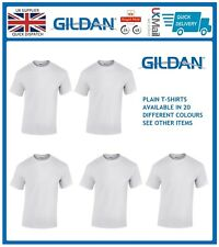 White 1 5 10 Pack Mens Blank Gildan Plain Cotton Tshirt T Shirt Tee Top Lot