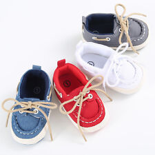Baby Boy Girl kids Child Trainers Canvas Sneakers Soft Sole Crib Shoes Prewalker