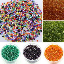 1000Pcs DIY Round Czech Glass Seed Loose Spacer Beads Jewelry 2mm New