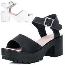 Womens Platform Chunky Sole Block Heel Sandals Shoes Sz 3-8