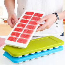 14 Cavity Silicone Ice Cube Tray Freeze Mold Square Jelly Pudding Chocolate Mold