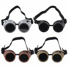 HOT Goggle Cyber Steampunk Glasses Vintage Retro Welding Punk Gothic SF