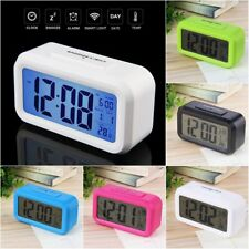 LED Digital Electronic Alarm Clock Backlight Time With Calendar + Thermometer SF