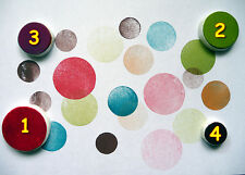 Circle Rubber Stamps, Hand Carved, Circles Stamp, Craft Stamp, Circle Stamps