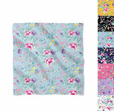 Floral Chinoiserie Satin Style Scarf - Bandana in 3 sizes
