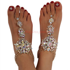 Holylove Statement Foot Jewelry Barefoot Sandals Anklet Crystal Wedding Beach