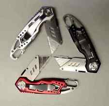 Folding Lock-Blade Utility Knife Blade with Carabiner / Bottle Opener NEW