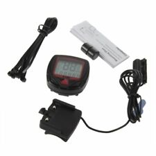 Digital Bicycle Bike LCD Cycling Computer Odometer Speedometer Stopwatch New CS