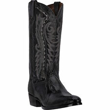 Dan Post Mens Black Raleigh Lizard Cowboy Boots 13in Leather