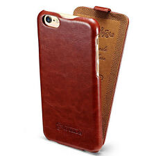 Vintage Leather Vertical Flip Pouch Cover Skin Case For iPhone 5 5S SE 6S 7 Plus