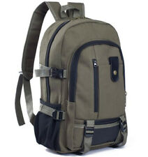 Men Casual Canvas Backpack School Bag Male Outdoor Travel Sport Hiking Rucksack