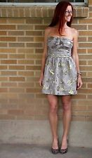 NWT~Juicy Couture~Cherry Blossom Strapless Dress~Metallic~6~$378 *SOLD OUT*
