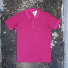 New Mens John Galliano Pink Rayon & Wool Blend Polo Shirt Size M BNWT RRP £250