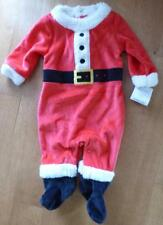 Carter's Boys Girls SANTA CLAUS Outfit Sleeper Pajamas Size NB 6 Mo Fleece Baby