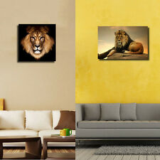 Modern Abstract Huge Wall Art Oil Painting On Canvas-Animal Lion (No Frame)