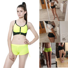 Pole Dance Fitness Women's Shorts Yoga Exercise Breathable Tie Side Hot Pants
