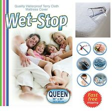 Waterproof Mattress Cover Protector Terry Cloth Extra Deep Fitted Sheet Bed Pad