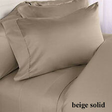 Beige Solid Great Offer !! Choose Bed Item & Size !! 100% Egyptian Cotton 1000TC