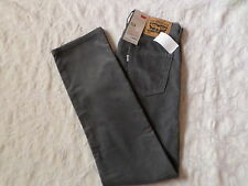 LEVI'S CORDUROYS 514 STRAIGHT FIT PANTS MENS SIZE 29X30 ZIP FLY GREY COLOR NWT