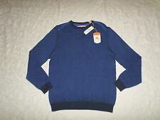 TOMMY BAHAMA TUSCAN CREW SWEATER MENS SIZE M COBALT GLASS LONG SLEEVES NEW NWT