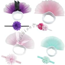Cute Infant Toddler Baby Girl Kid Tutu Skirt &Headband Photo Prop Costume Outfit
