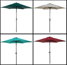 9 Ft Market Outdoor Patio Aluminum Table Umbrella Push Button Tilt Crank Shade