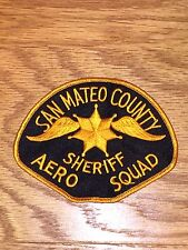 Defunct San Mateo County Old Style California Sheriff's Aero Squad Patch