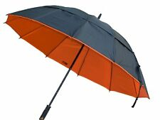 "Black Aspen 62"" Golf Umbrella Extra Large Double Vented Wind Resistant Canopy"