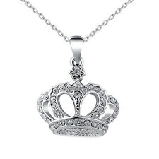 Necklaces Pendants Charm Diamond Crown Fashion Jewelry Women Girl Ladies Gift