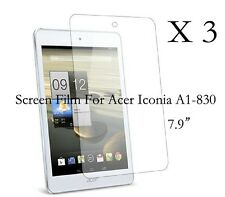 """3 Glossy Matte LCD Screen Protector Guard Film Cover For Acer Iconia A1-830 7.9"""""""
