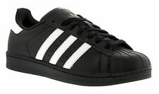 New Mens/Gents Black Adidas Originals Superstar Foundation Trainers. UK SIZES