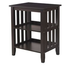 Adeco Modern Square Accent End Side Table Nightstand for Bedroom