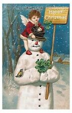 Victorian Christmas Fairy & Snowman Applique Multi Szs FrEE ShiPPinG WoRld WiDE