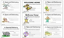 20 Adoption Announcements Baby Flat Cards in Color 5X4 with envelope