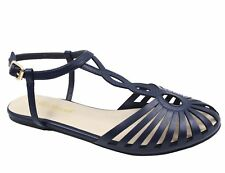 MaxMuxun Women Strappy Gladiator Closed Toe Cutout Flat Sandals Ankle Strap Shoe