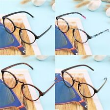 Retro Geek Vintage Nerd Large Frame Fashion Round Clear Lens Glasses  DS