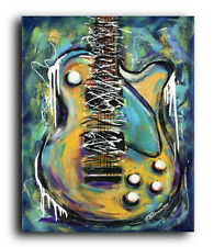 Lg. Canvas and Fine Art Print Les Paul Guitar Music Contemporary Modern Abstract
