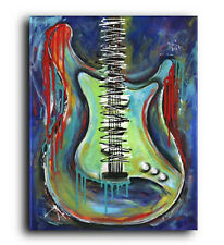 Lg. Canvas and Fine Art Prints Contemporary Abstract Stratocaster Guitar Pop Art