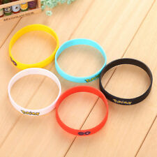 Five Pokemon Go Wristband Silicone Bracelet Gifts Popular Women Jewelry