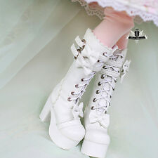 1/3 BJD Shoes Supper Dollfie DREAM bow white High heels Boots AOD DOD LUTS MID