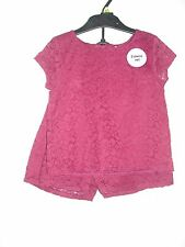 BNWOT Beautiful Burgundy 2 Piece Outfit - Top/Shorts.  Girls. Age 18mths -7 Yrs