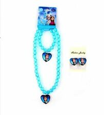 Necklace Bracelet Earring Blue Color Long Chain Jewelry Set for Women