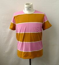 Levis Vintage Classic LVC Pink & Brown Multi Striped Short Sleeve Pocket Tee NWT