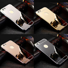 Luxury Aluminum Ultra-thin Mirror Metal Back Case Cover For Various iPhone Model